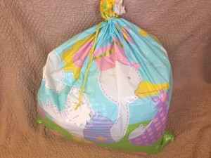 Balloon Bag Filled with Helium Pink or Blue Balloons